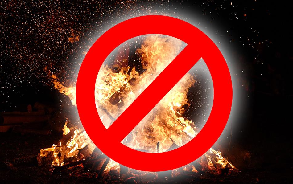 Tűzgyújtási tilalom információ