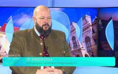 A Sopron TV vendége volt Dr. Sándor Gyula  vezérigazgató