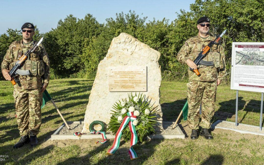 Emléksziklával tisztelegtek a II. ágfalvi csata hősei előtt